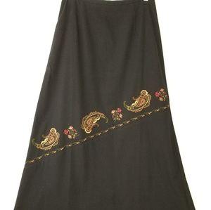 Women's Talbots Long Black Skirt.